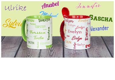 Tassen mit Namen
