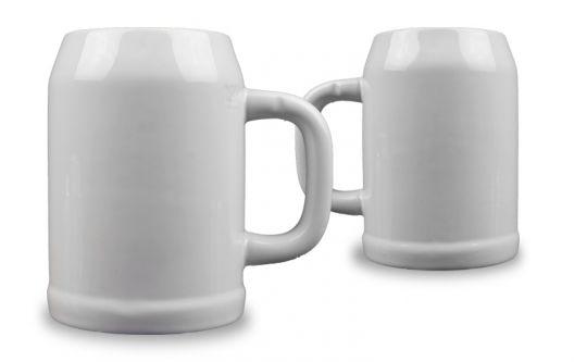 Bierkrug mit Foto, weiß 0,5 L