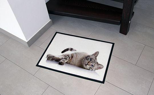 fussmatte zum selbst gestalten mit foto oder namen als geschenkidee. Black Bedroom Furniture Sets. Home Design Ideas