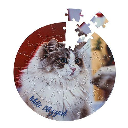Rundes Puzzle mit 46 teilen