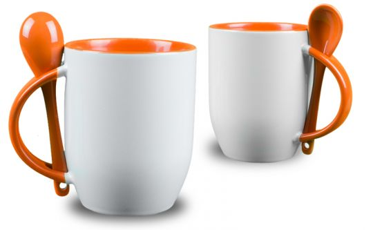 l ffeltasse selber drucken orange l ffel fototasse mit. Black Bedroom Furniture Sets. Home Design Ideas