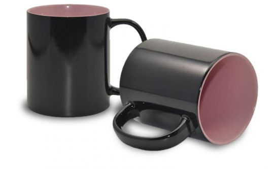 Magic Mug Zaubertasse, innen rosa