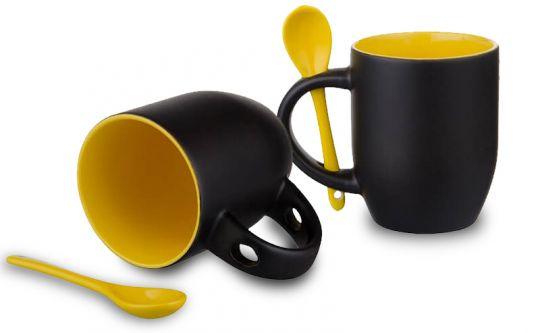 Magic Mug Löffeltasse gelb