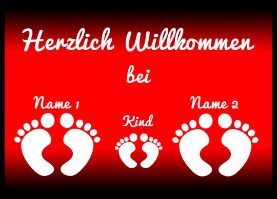 Herzlich Willkommen 3 Füße - Fußmatte 50x70 cm