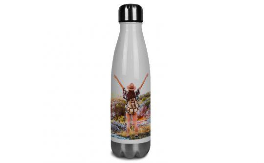Edelstahl-Thermosflasche weiß 0,5L