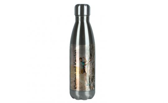 Edelstahl-Thermosflasche silber 0,5L