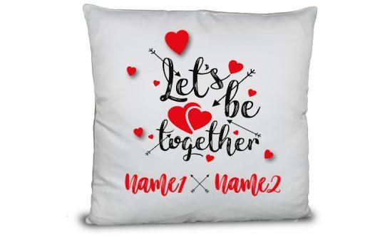 Kissen mit Liebesbotschaft und Wunschtext