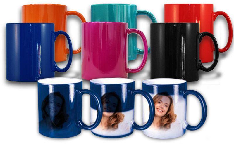 farbige magic mug zaubertasse zum selber gestalten coole fotogeschenke. Black Bedroom Furniture Sets. Home Design Ideas
