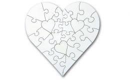 Holz Herzpuzzle mit 23 Teilen