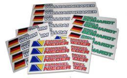 ID-Stickerbogen - Flagsticker