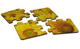 Holzpuzzle mit 4 Teilen
