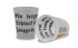 Schnapsglas 2cl, satiniert