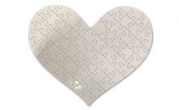 Herz-Puzzle mit 63 Teilen