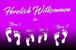 Herzlich Willkommen 4 Füße - Fußmatte 50x70 cm