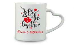 Kaffeebecher Lets be together mit Wunschtext oder Namen