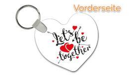 Herz-Anhänger Lets be together mit Wunschtext