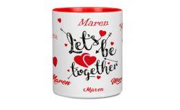 Namenstasse mit Liebesbotschaft Lets be together
